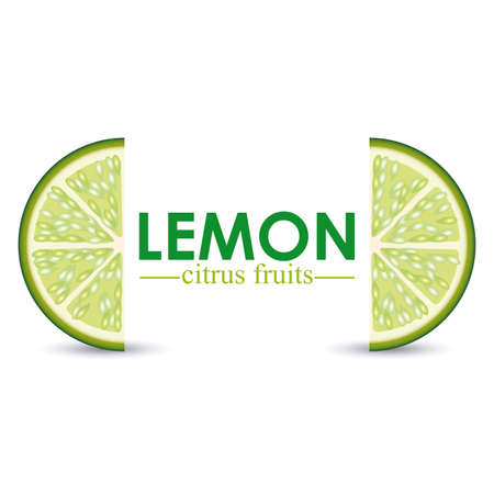 eco notice: lemon design over white background vector illustration
