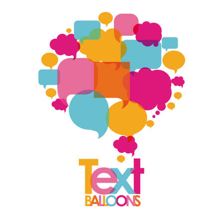 text balloons over white background  vector illustration Vector
