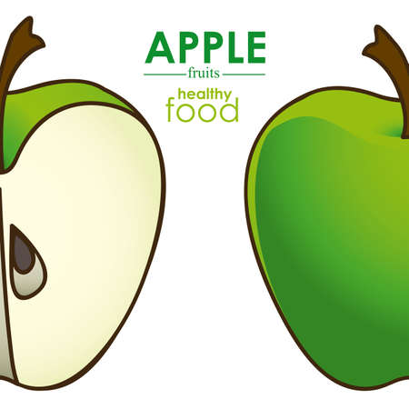 apple design over white background vector illustration Vector
