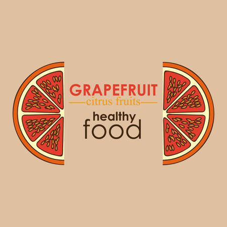 grapefruit citrus fruit  over white background vector illustration   Stock Vector - 22067137