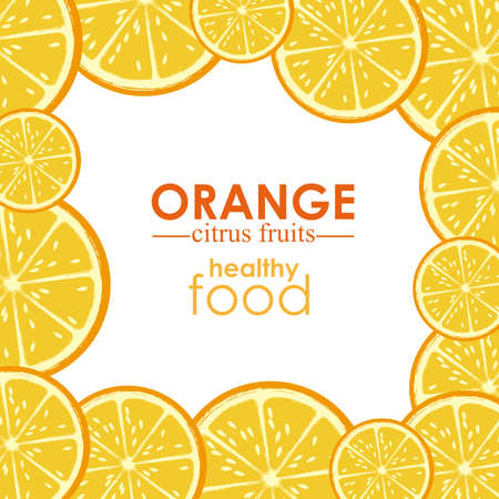 orange citrus fruit  over white background vector illustration