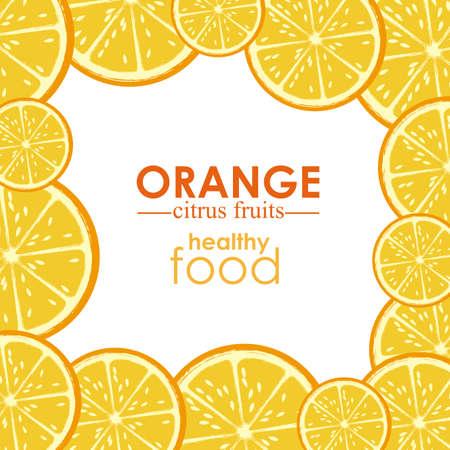 orange citrus fruit  over white background vector illustration Stock Vector - 22067148
