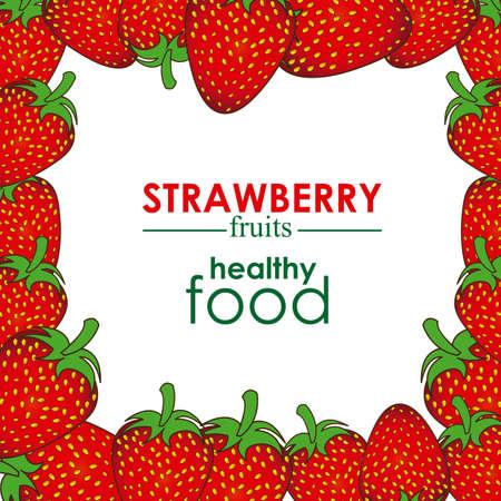 strawberry design over white background vector illustration  Illustration