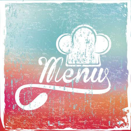 menu design over rustic background vector illustration   Vector