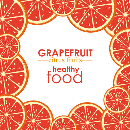 grapefruit citrus fruit  over white background vector illustration   Stock Vector - 22067152