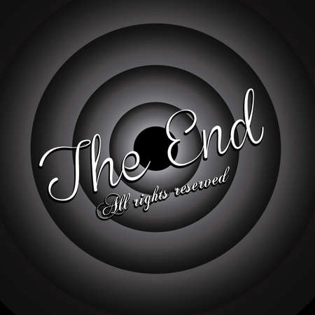 the end label over black background vector illustration Stock Vector - 22067153