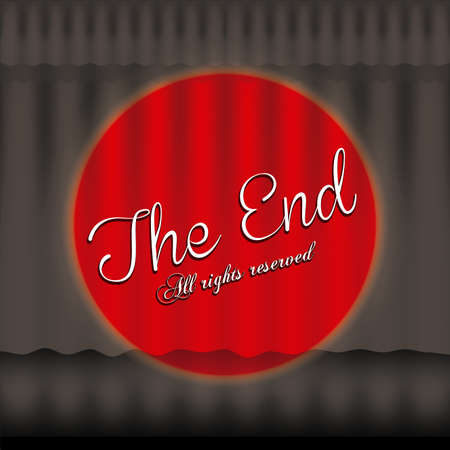 the end label over black background vector illustration Vector