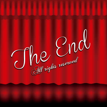 the end label over black background vector illustration Stock Vector - 22067156