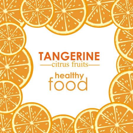 drinkseal: tangerine citrus fruit  over white background vector illustration
