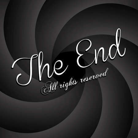 the end label over black background vector illustration Stock Vector - 22067158