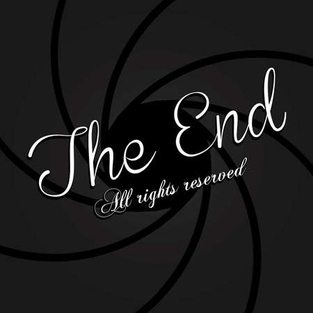 the end label over black background vector illustration Stock Vector - 22067160