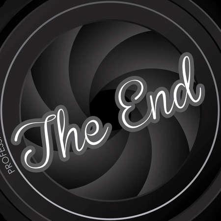 cinematografico: el sello final sobre el fondo negro ilustraci�n vectorial