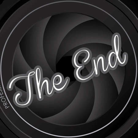 the end label over black background vector illustration Stock Vector - 22067161