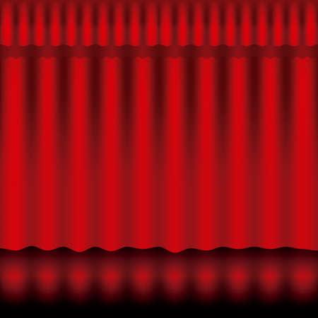 curtain design: curtain design over pattern background vector illustration