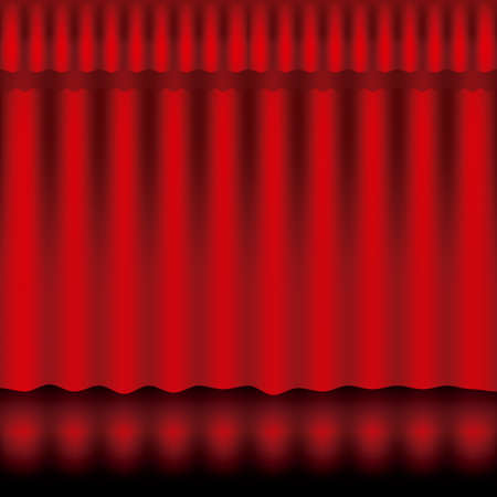 introducing: dise�o de la cortina sobre fondo de ilustraci�n vectorial