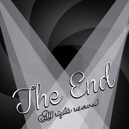 the end label over black background vector illustration Stock Vector - 22067172