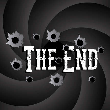 the end label over black background vector illustration Stock Vector - 22067174
