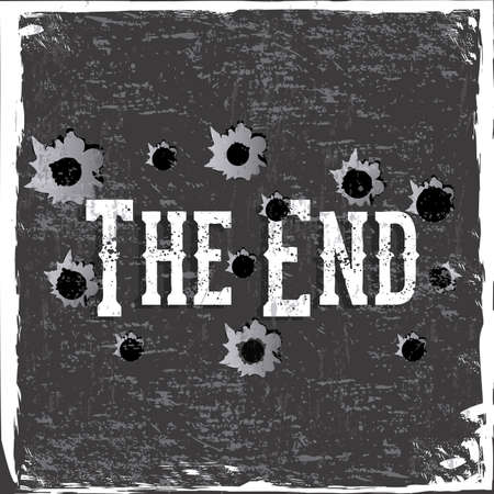 the end label over gray background vector illustration Vector