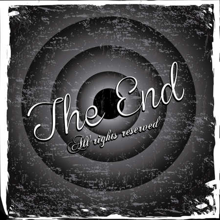 the end label over gray background vector illustration Stock Vector - 22067182