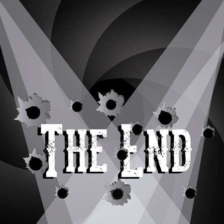 the end label over black background vector illustration Stock Vector - 22067188