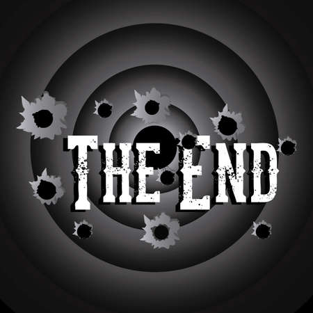 the end label over black background vector illustration Stock Vector - 22067198