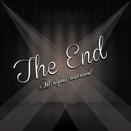 the end label over black background vector illustration Stock Vector - 22067204