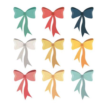 bows design over white background. vector illustration