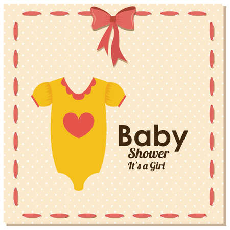 baby drees over dotted background vector illustration  Vector