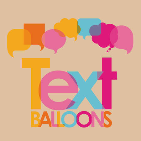 text balloons over pink background  vector illustration Vector