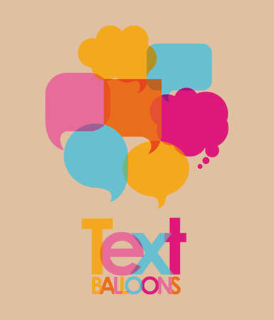 text balloons over pink background  vector illustration