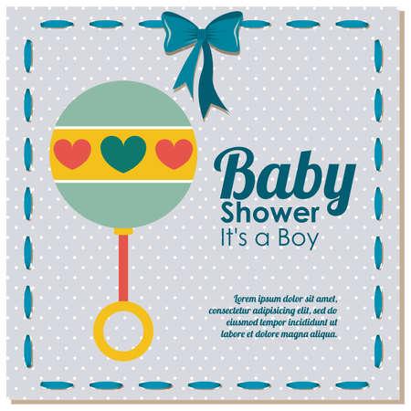baby shower design over dotted background vector illustration