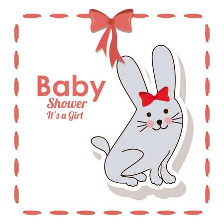 baby shower design over white bakground vector illustration