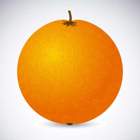 drinkseal: orange citrus fruit  over white background vector illustration