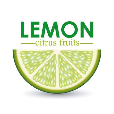 diseño de limón sobre fondo blanco ilustración vectorial