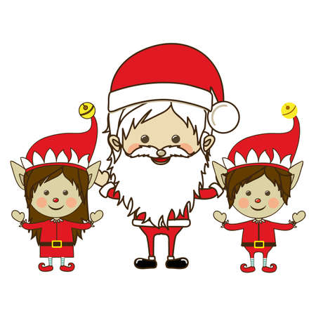 christmas design over white background vector illustration Stock Vector - 22067408