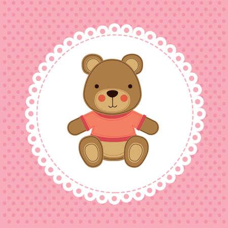 baby design over dotted background vector illustration