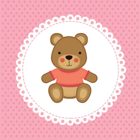 encantador: projeto bebê sobre pontilhada fundo ilustração vetorial