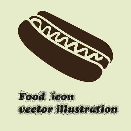 dog eating: hot dog design over white background vector illustration