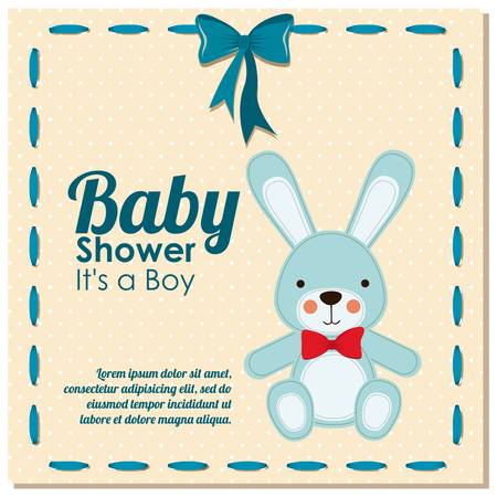baby shower design over dotted bakground vector illustration  Vector
