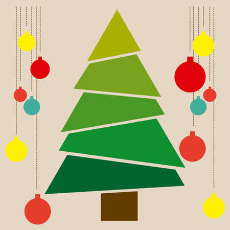 tree symbol: christmas tree over blue background vector illustration