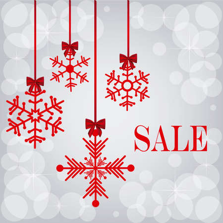 christmas design over gray background vector illustration Çizim