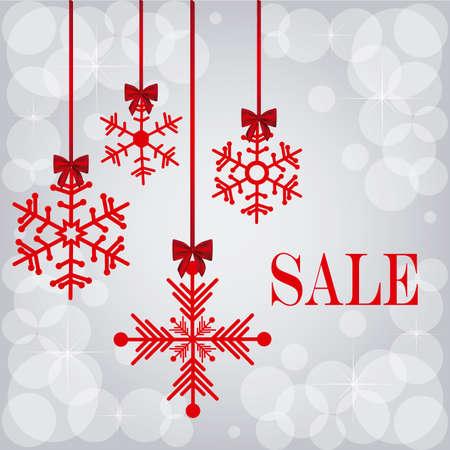 progettazione di Natale su sfondo grigio illustrazione vettoriale
