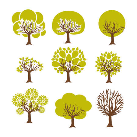 tree design over white background vector illustration Vector