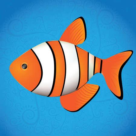 plunging: fish design over blue background vector illustration