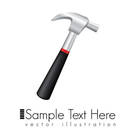 loosen: hammer isolated over white background. vector illustration Illustration