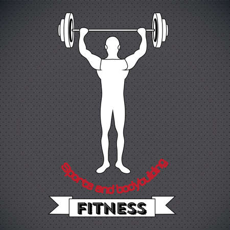 fitness design over gray background vector illustration  Vector