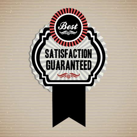 medal like: best satisfaction  design over dotted background vector illustration    Illustration