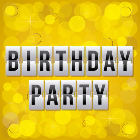 over the counter: counter indicating birthday party over pattern background vector illustration