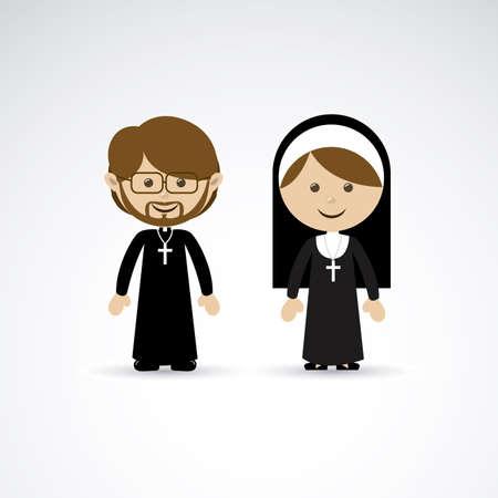 pastor: religious design over gray background vector illustration