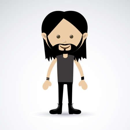 darck: man design over gray background vector illustration